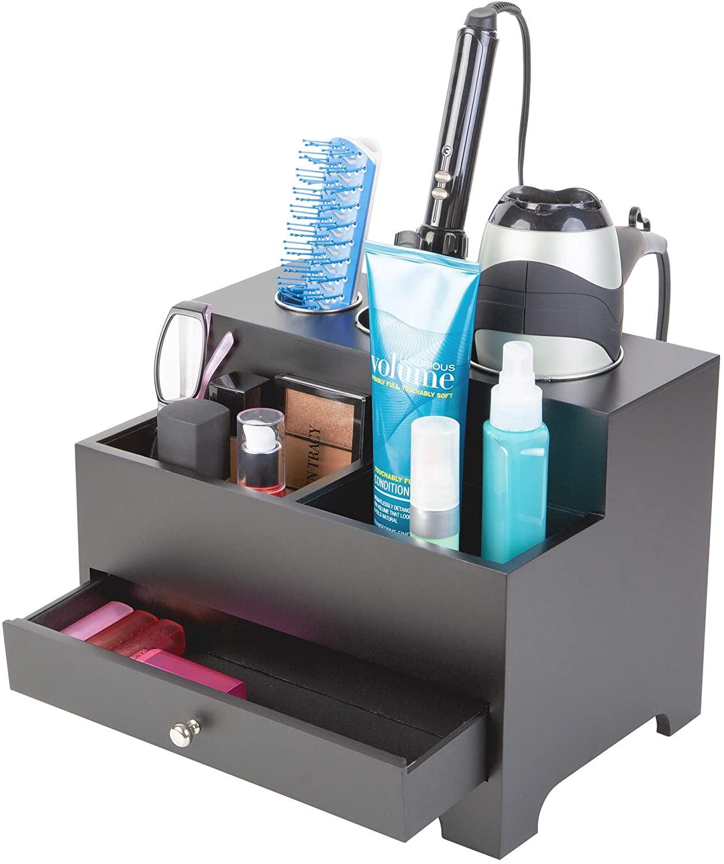Richards Homewares Personal Hair Styling Storage Chest, Black (986650)