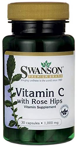 Swanson Vitamin C with Rose Hips 1000 Milligrams 30 Capsules