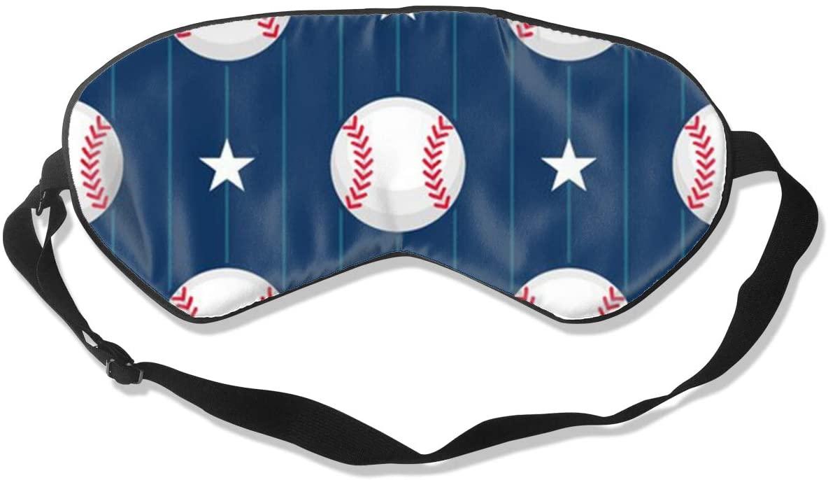 Baseball Sports Women Men Eye Shade Cover for Sleeping,Eye Mask for Night Sleep