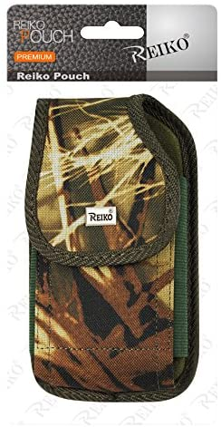 Reiko Vertical Rugged Pouch with Metal Logo for Treo 650 - Retail Packaging - Camouflage