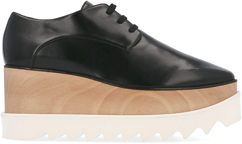 Stella McCartney Luxury Fashion Womens 363997W0XH01000 Black Lace-Up Shoes | Season Permanent