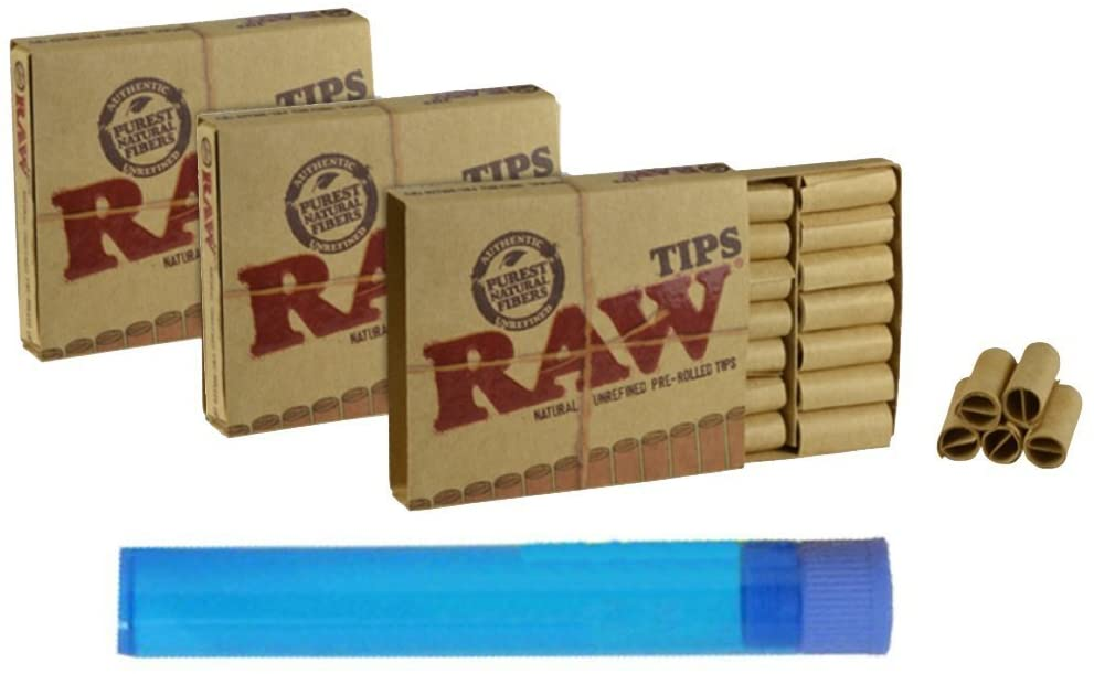 3 Boxes of Raw Pre-rolled Tips (63 Total Pre-rolled Tips) + 1 Beamer Doob Tube