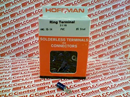 HOFFMAN Products 3116 Ring Terminal AWG16-14 PVC 6STUD 100/PK