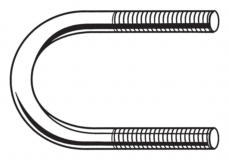1/2-13 x 5 Pipe Size Black Oxide U-Bolt (7 Pieces)
