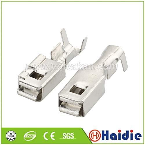 Davitu Terminals - 100pcs auto car splices wire terminal G211 crimp loose pins terminal DJ624B-D6.3B - (Color: 200pcs)