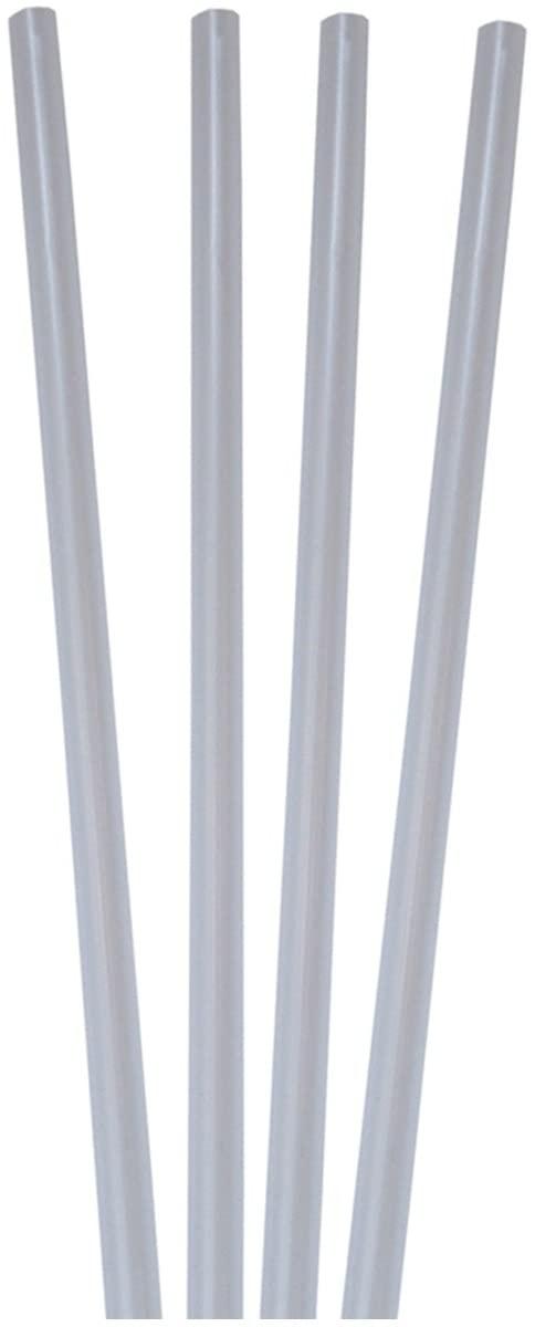 Decor Service Drinking Straws, Plastic, Transparent, Ø 8mm x 25cm