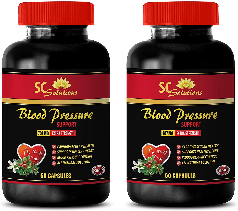 Blood Pressure Longevity - Blood Pressure Support 690 MG - Garlic Vitamins - 120 Capsules (2 Bottles)