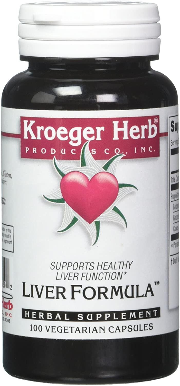 Kroeger Herb Liver Formula Combinations, 100 Count