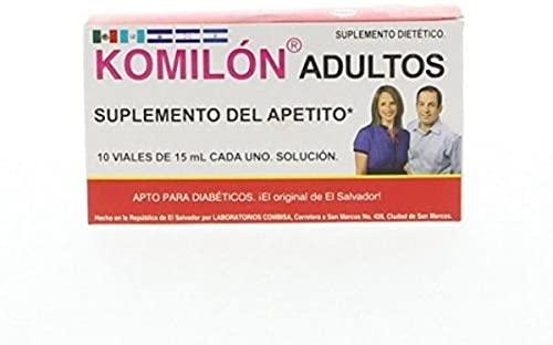 Komilon Adults - Suplemento Del Apetito x 10 Viales x 15 ml (Pack of 1)