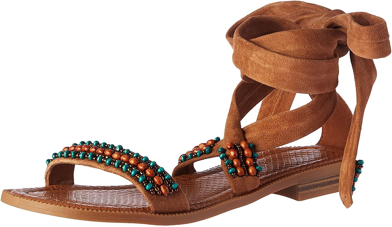 NINE WEST Womens Xoanna Suede Dress Sandal