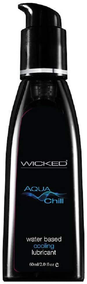 Wicked Aqua Chill Waterbased Cooling Sensation Lubricant - 4oz