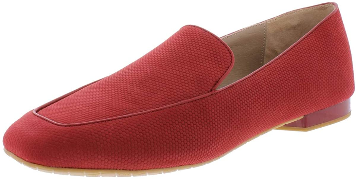 Donald J Pliner Womens Honey Square Toe Loafers, Brick, Size 7.5