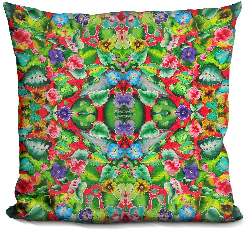 LiLiPi Flowers Pink 715 Decorative Accent Throw Pillow