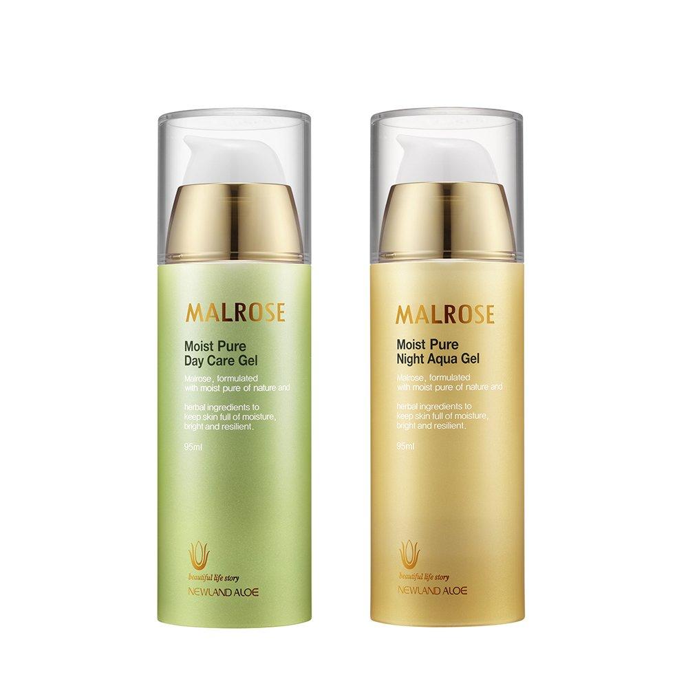 malrose Moist Pure Day Care 95ml & Night Moisture Gel 95ml - Daily Care for Brightening, Elasticity, Regenerate Cell, Providing Nourishment
