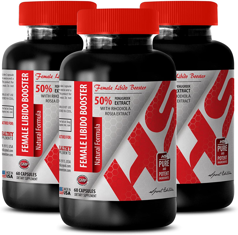 Female Sex Drive Enhancer - Female LIBIDO Booster - Natural Formula - tongkat Herbs Real ali - 3 Bottles (180 Capsules)
