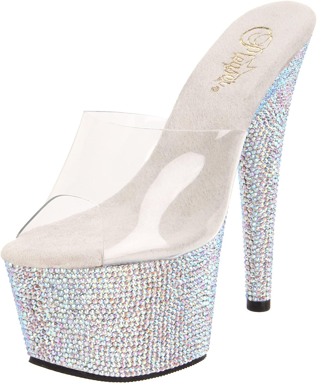 Pleaser Women's Bejeweled-701DM/C/SMCRS Platform Sandal