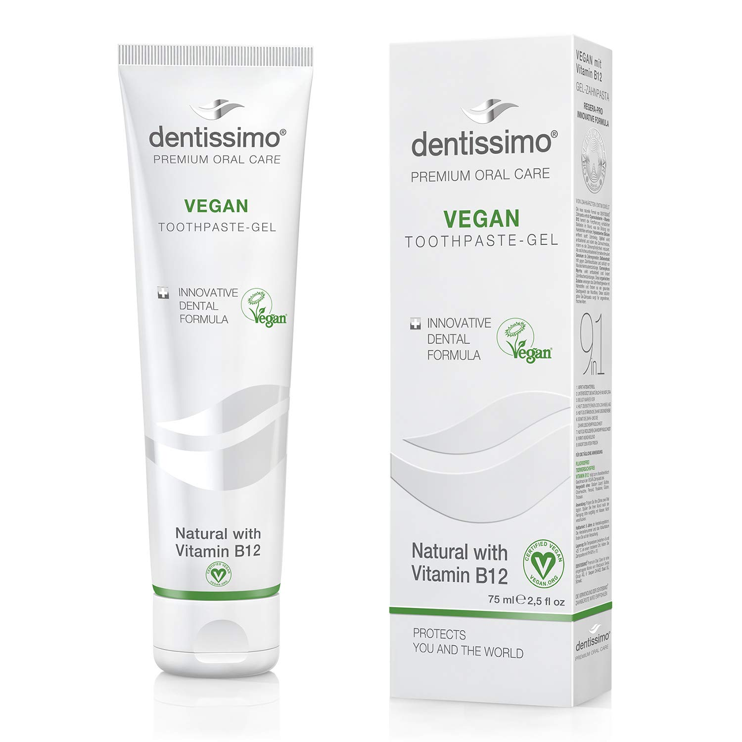 Medpack Dentissimo Swiss Biodent Toothpaste, Vegan With Vitamin B12, 2.5 Fluid Ounce