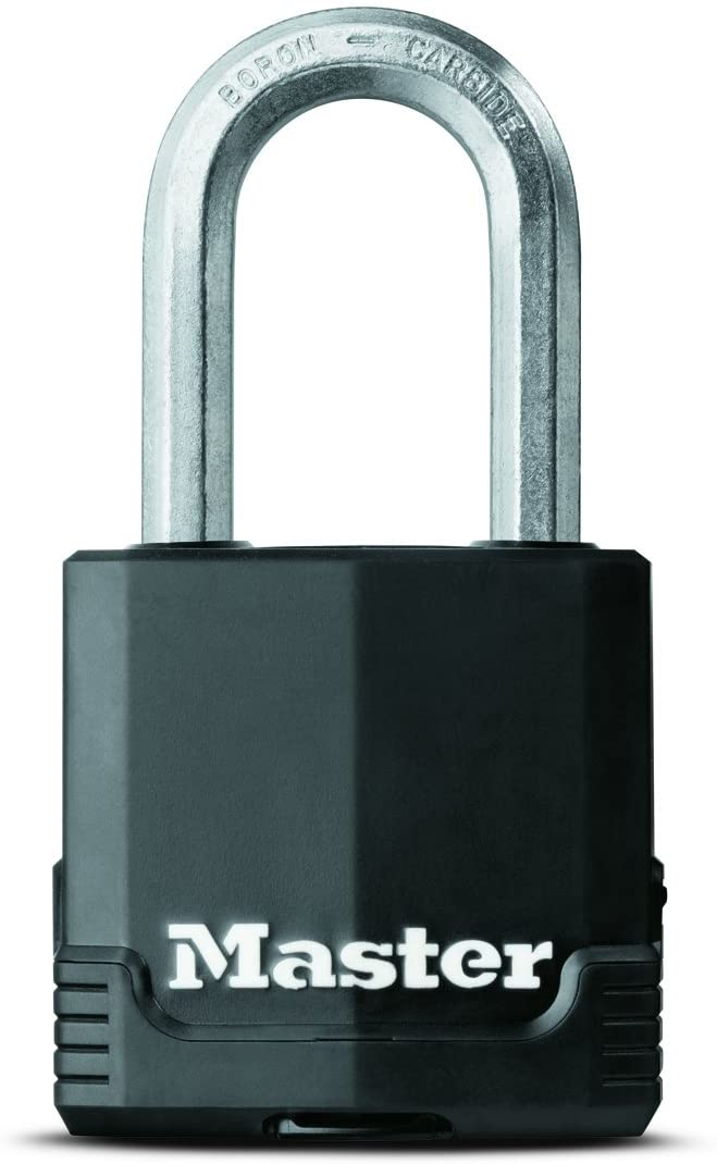 Master Lock Padlock, Magnum Covered Laminated Steel Lock, 1-7/8 in. Wide, M115XKADLF