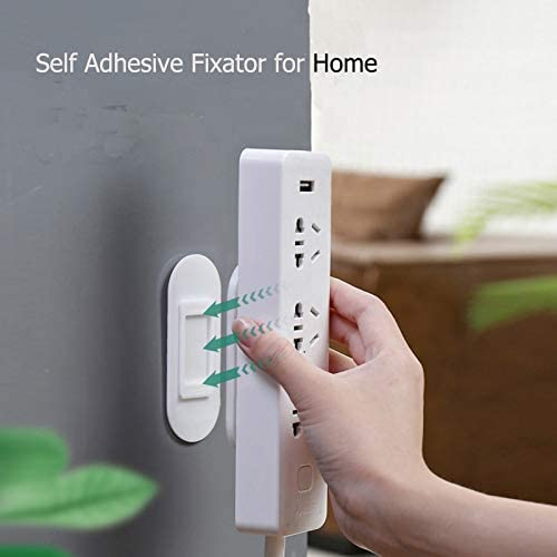 3 Pack YYSHO Self Adhesive Power Strip Holder Wall Mount Self Adhesive Fixator for Home and Office No Hole Punch Free Socket Cable Fixer Rack Sticker Fixer (3 Pack)