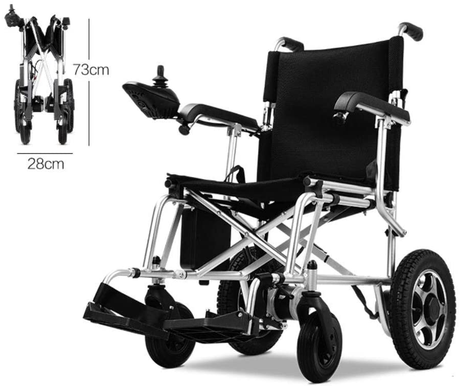 BXZ Wheelchair Electric Lightweight Folding Wheelchair Lithium Battery Intelligent Power Wheelchair Elderly Automatic Comfortable Mobility Tool,13AH