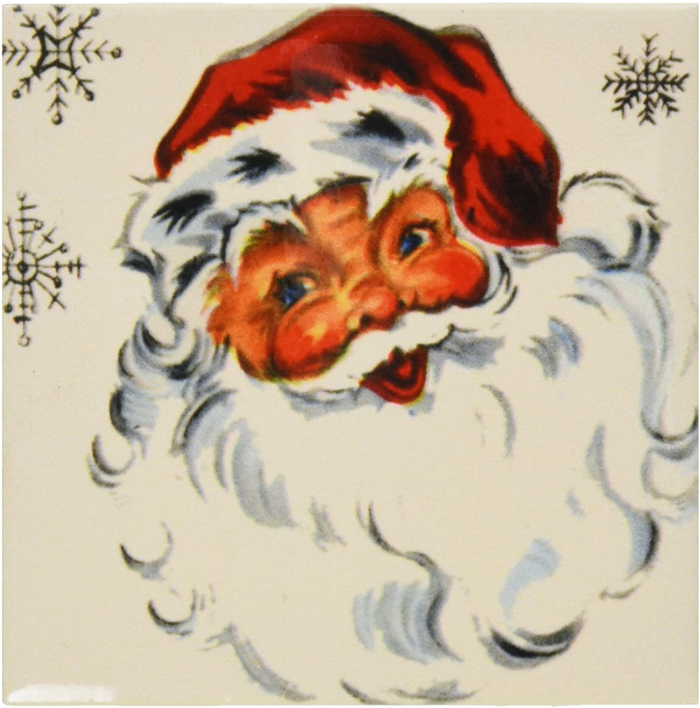 3dRose ct_29061_1 Santa and The Snowflakes Ceramic Tile, 4-Inch