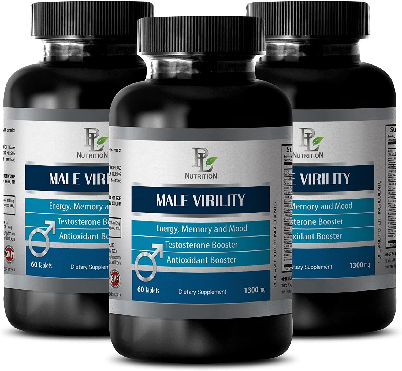 Sexual Enhancement - Male Virility - Sexual Energy - 3 Bottles 180 Tablets