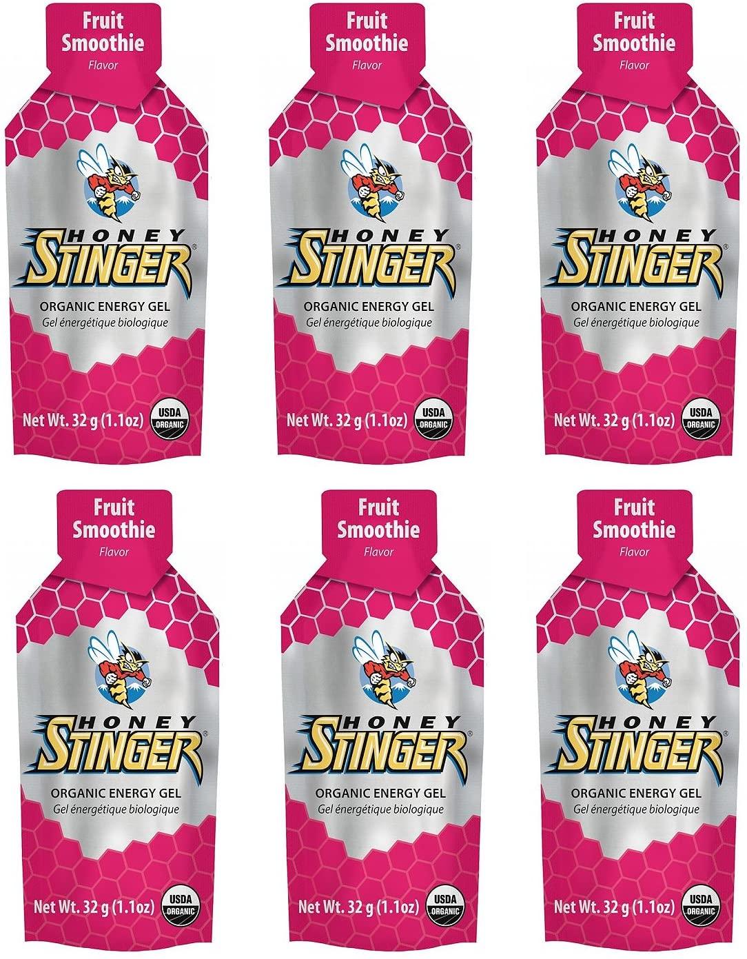Honey Stinger Organic Energy Gel - Fruit Smoothie (6 x 1.1oz Packs)