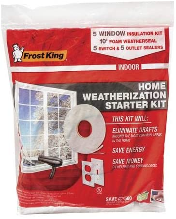 Frost King 5 Window Insulation kit, 5 Switch Sealer and 5 Outlet Sealer kit