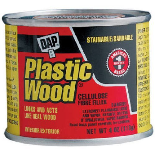 Solvent Wood Filler, 4 oz., White, Can