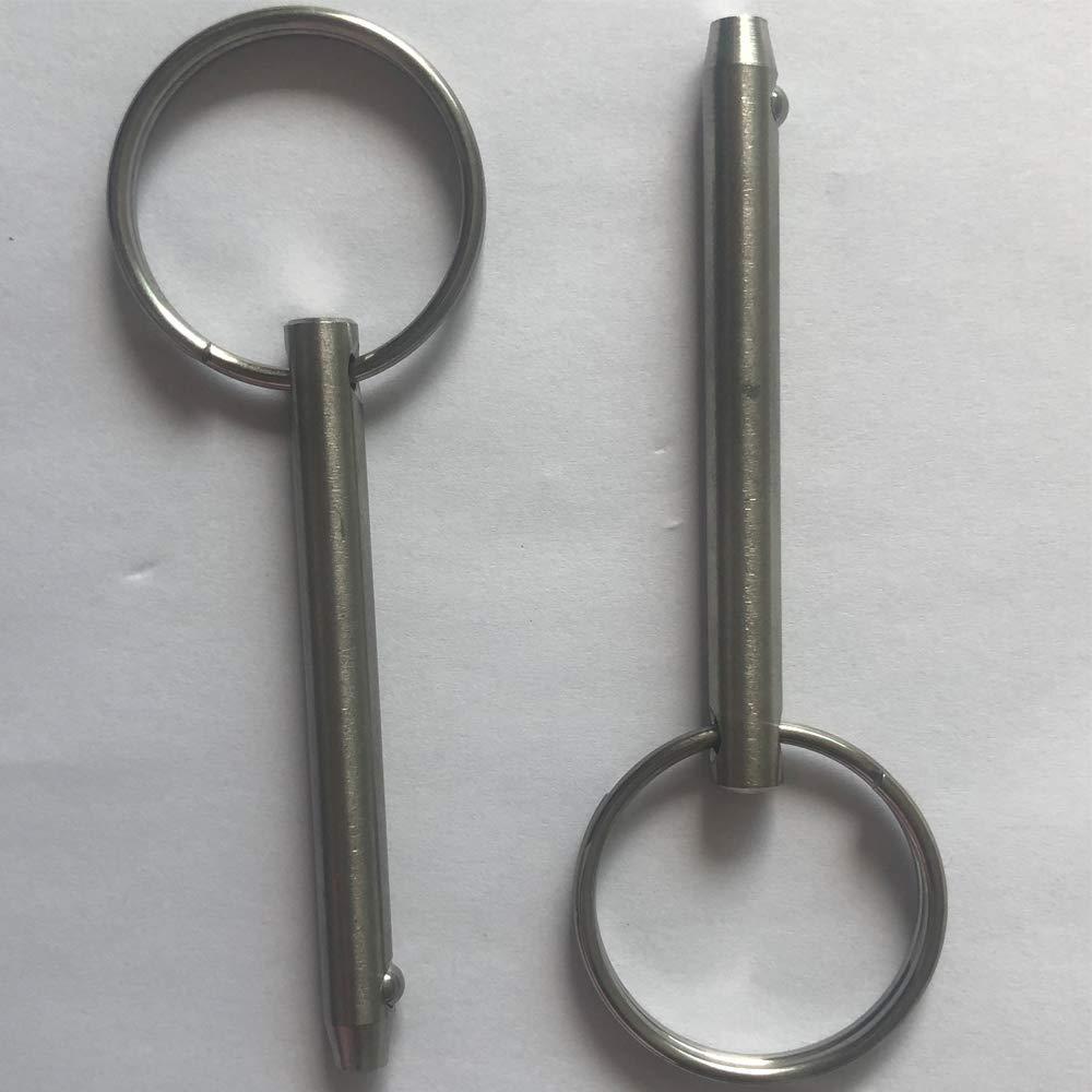 2 Pack Quick Release Pin, Diameter 1/4