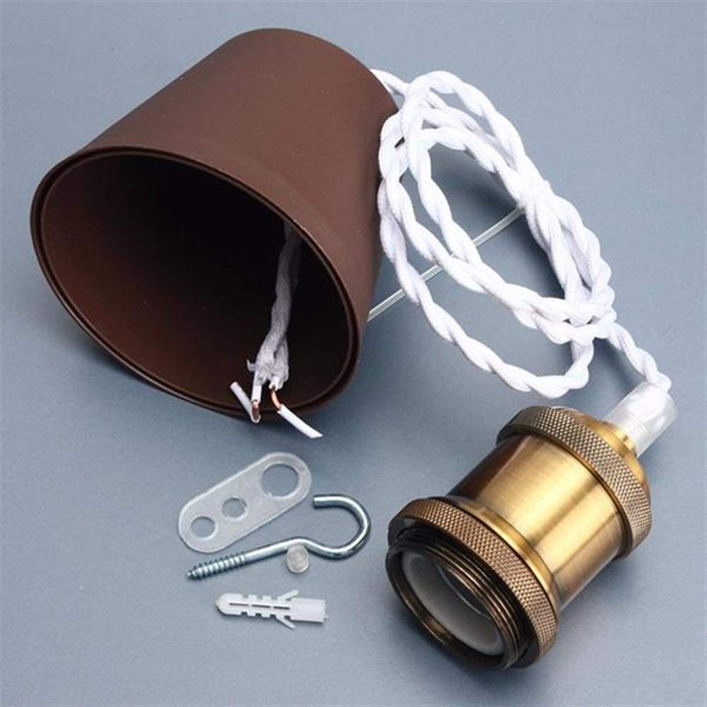 Elegdy E26/E27 AC 110V-220V Retro Edison Copper Ceiling Pendent Lights Base Bulb Cord Grip Holder Socket