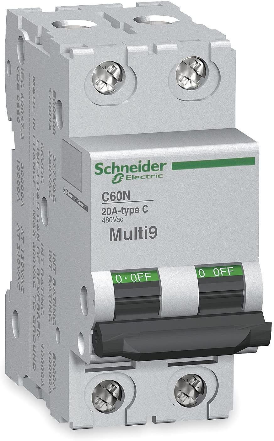 SCHNEIDER ELECTRIC Supplementary Protector 480Y/277-Volt 3-Amp 2-Pole MG24518 Networked Nongateway Dual Outdr Wall MNT
