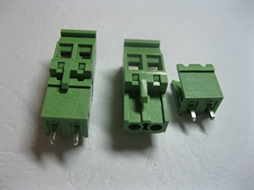 40 Pcs Pluggable Type Straight-pin 2way/pin Pitch 5.08mm Screw Terminal Block Connector Green Color 2EDCD-5.08A-2EDCV