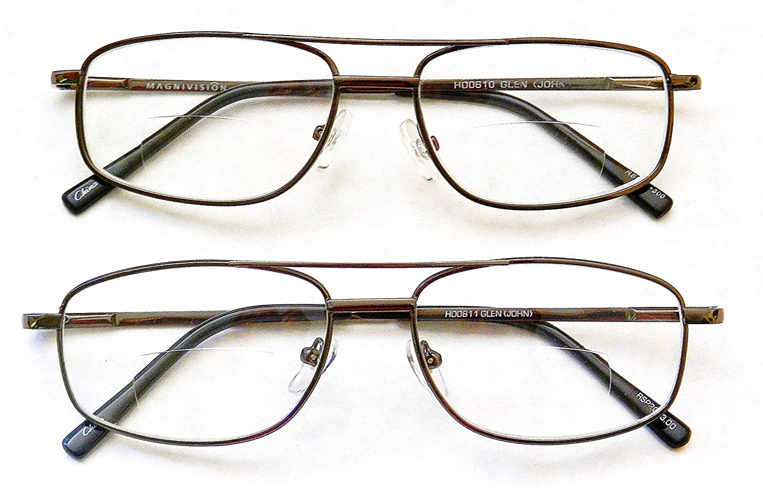 (2 PACK) Magnivision 1.50 BIFOCALS Traditional Clear Reading Glasses with Spring Hinges-