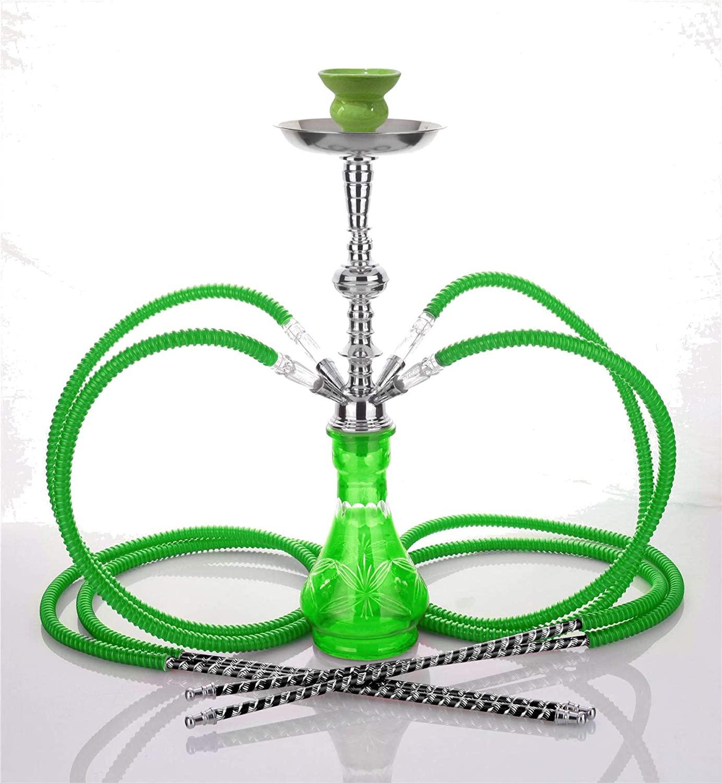 Medium Black 4 Hose hooka - no Tobacco no Nicotine New Design huka - no Tobacco no Nicotine Shisha Set