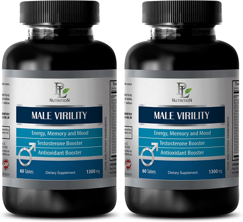 Libido Pills for Men - Male Virility - Sex Boost for Men - 2 Bottles 120 Tablets