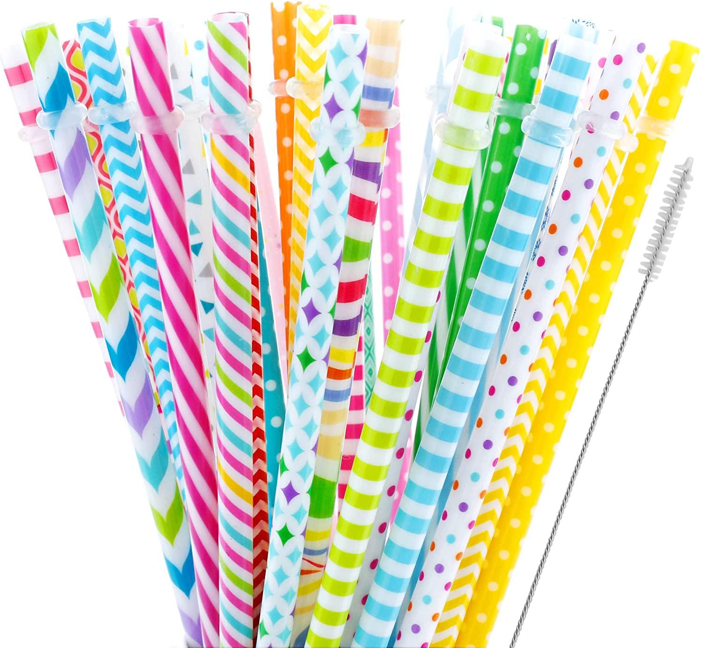 40 Pieces Reusable Straws,BPA-Free,9