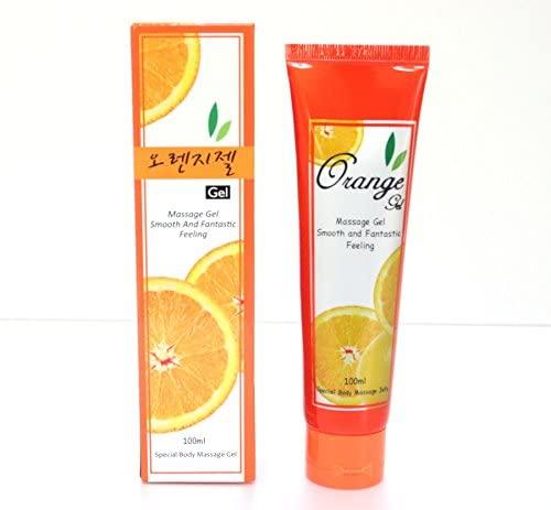 Lube Condom Safe Anal Vaginal Lubricant Massage Gel Sex Aid/Orange Gel 100ml