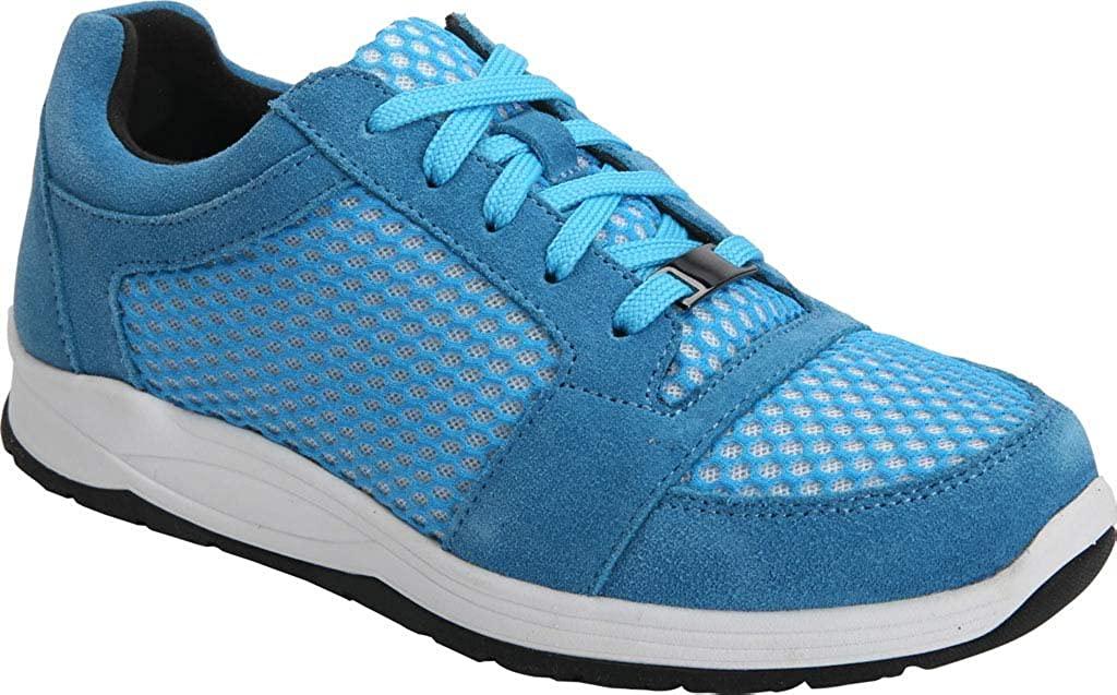 Drew Gemini Women's Sneaker 7.5 2A(N) US Blue-Suede-White