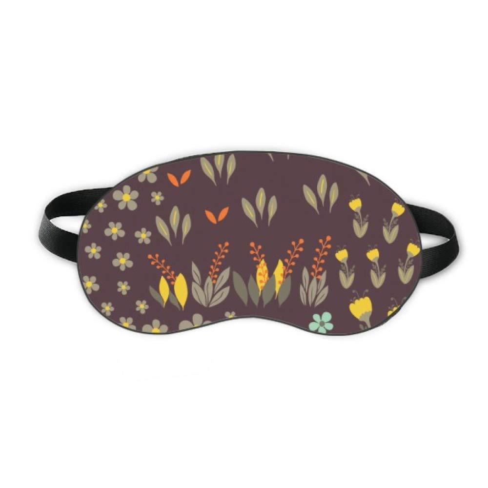 Mung Bean Flower Plant Paint Sleep Eye Shield Soft Night Blindfold Shade Cover