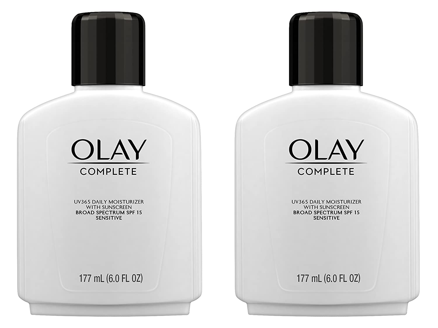 Face Moisturizer by Olay Complete Lotion All Day Moisturizer with Sunscreen SPF 15 for Sensitive Skin, 6.0 fl oz (Pack of 2)