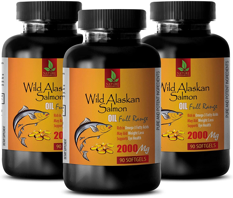 Focus Formula Support Brain Health - Wild Alaskan Salmon Oil 2000 mg - Rich in Omega 3 Fatty ACIDS - Omega 3 dha epa - 3 Bottles 270 Softgels