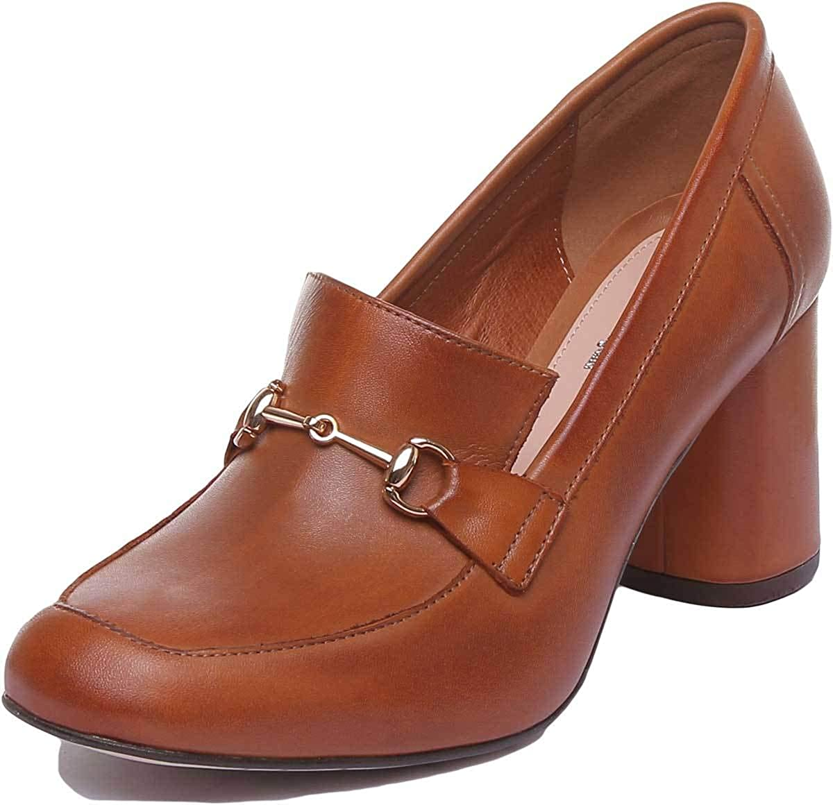 Justin Reece Alice Womens Leather Shoes Beige