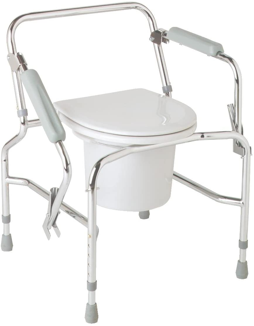 Medline Steel Drop-Arm Commode