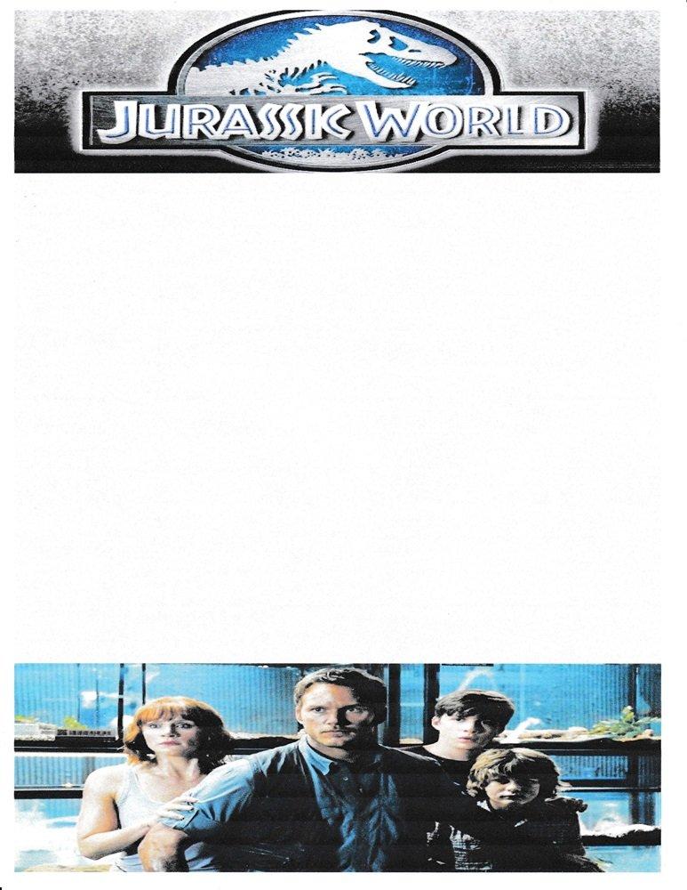 NEW Jurassic World Letterhead Stationery Paper 26 Sheets