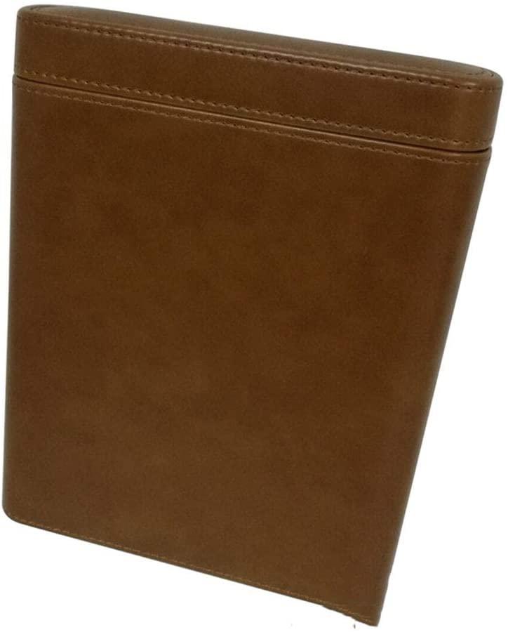 NACHEN Cigar Case for Men Travel Portable 5-Finger Brown Leather Humidors Handmade Cedar Wood Lined Cigar Box Humidor Cigar Case for Men Small