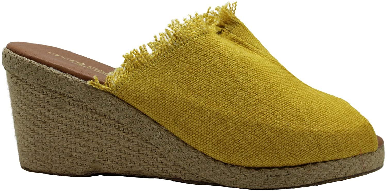 André Assous Womens Pauly Fabric Peep Toe Casual Platform Sandals