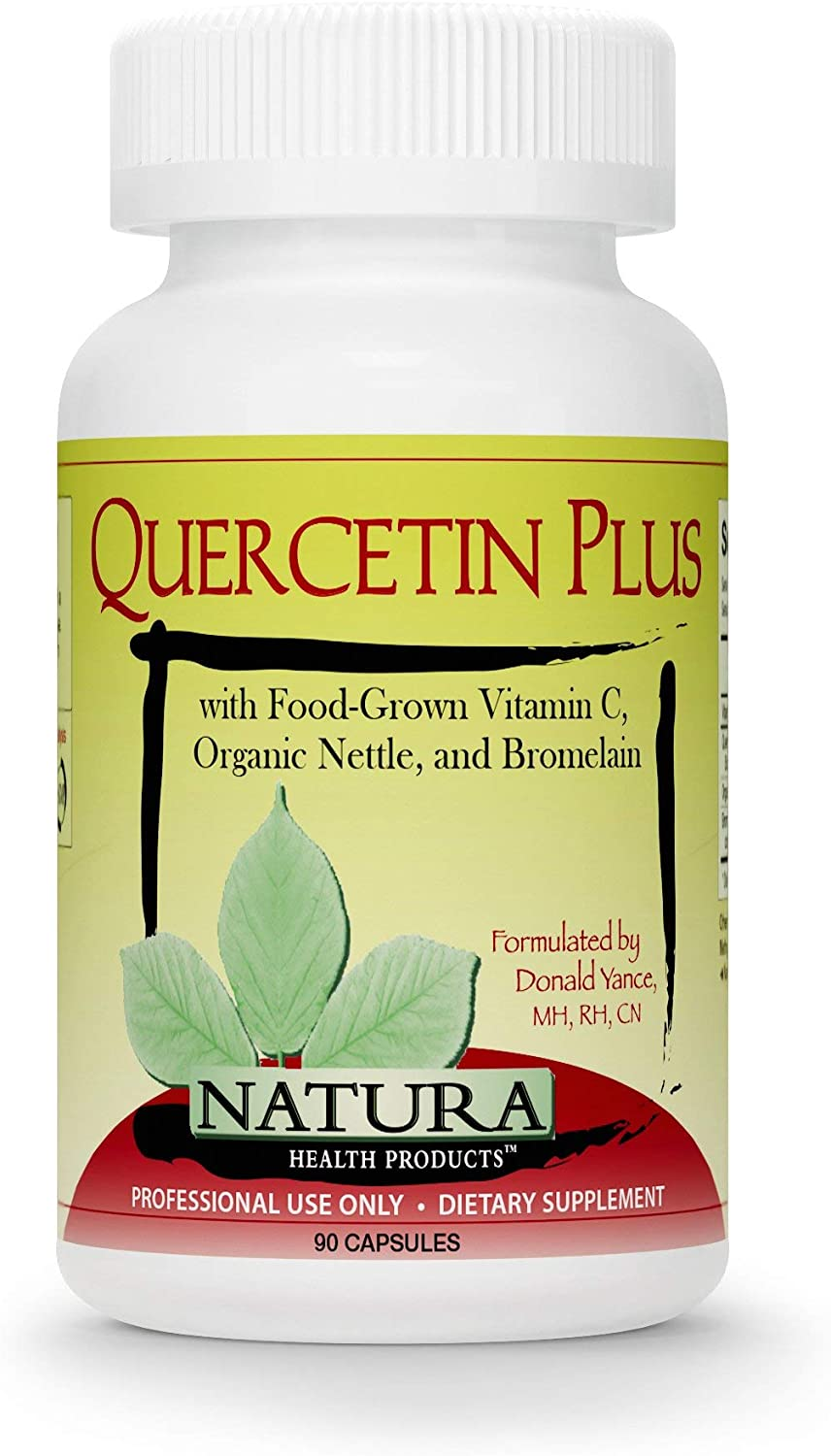 Natura Health Products - Quercetin Plus - Quercetin with Highly Bioavailable Food-Grown Vitamin C, Organic Nettle and Bromelain - 90 Capsules