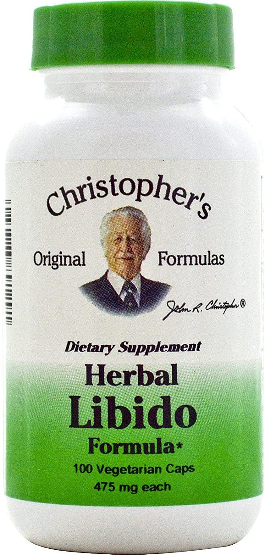 Christopher's Herbal Libido Formula - 475 mg - 100 Vegetarian Capsules