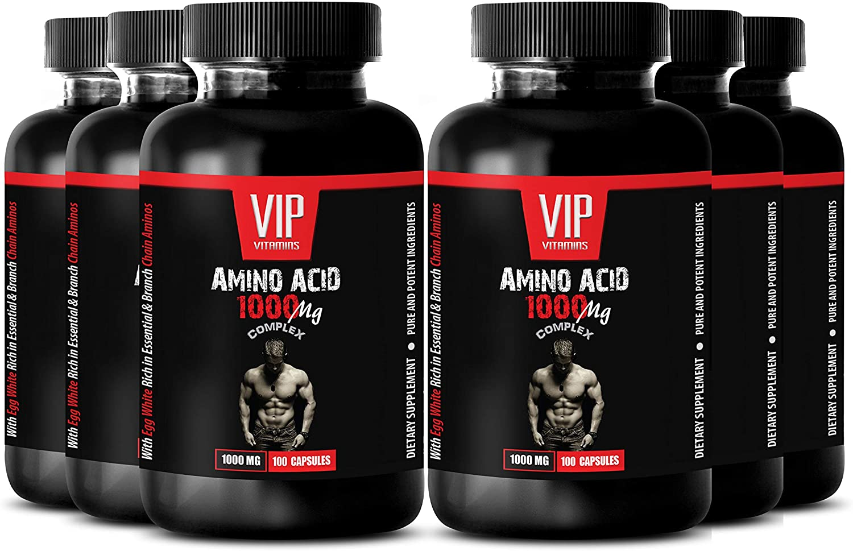 Immune System Support - Amino Acid 1000 MG Complex - methionine Supplements - 6B (600 Capsules)
